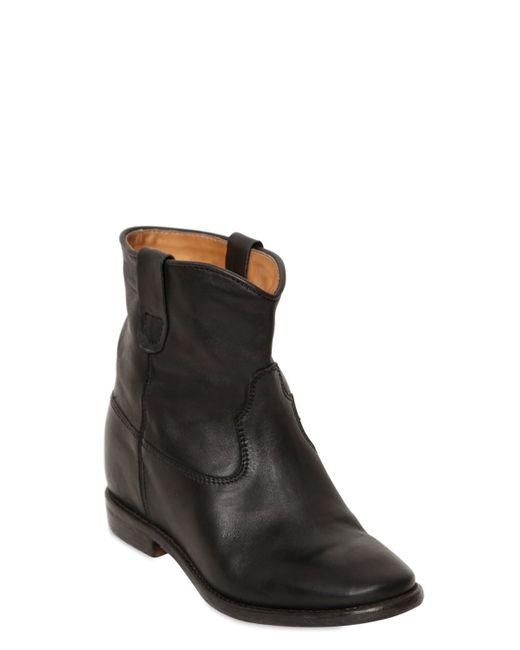 isabel marant cluster leather ankle boots in black save 63 lyst. Black Bedroom Furniture Sets. Home Design Ideas