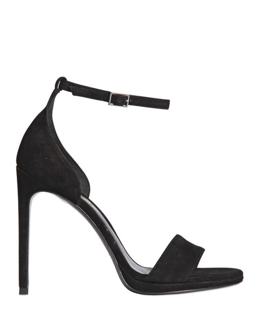 Saint Laurent | Black 110mm Jane Suede Sandals | Lyst