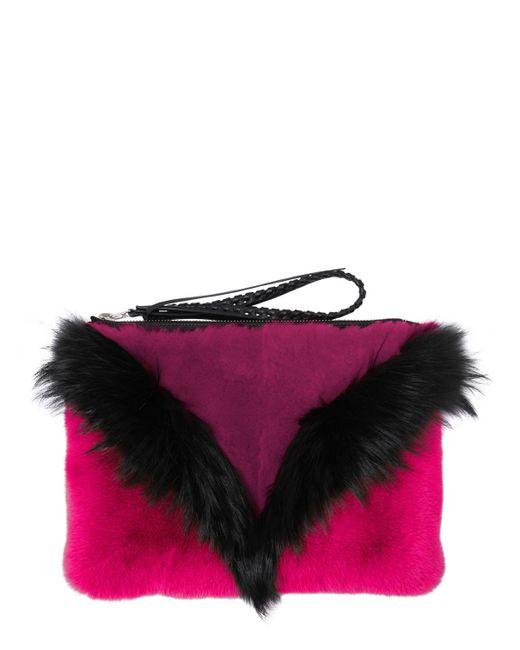 Elena Ghisellini | Pink Liu Fox & Rex Rabbit Fur Pouch | Lyst