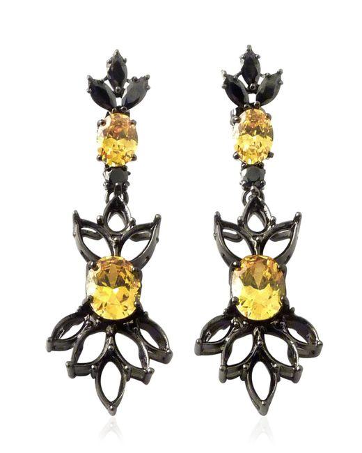 Iosselliani   Black All That Jewelry! Demi Hollow Earrings   Lyst