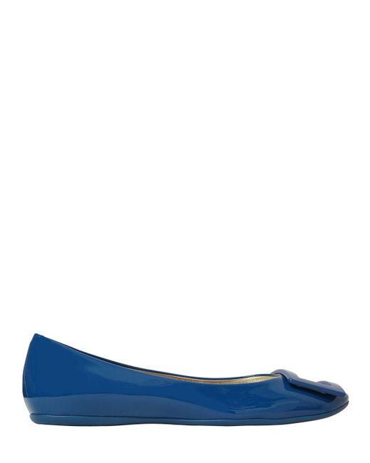 Roger Vivier | Blue Gommette Patent Leather Ballerina Flats | Lyst