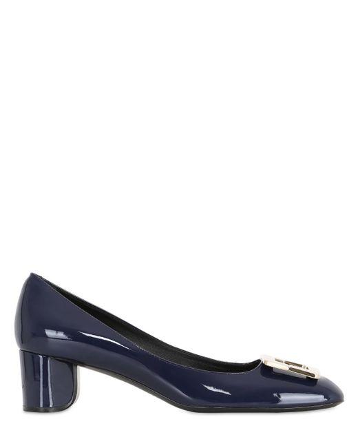 Roger Vivier | Blue 45mm U Look Patent Leather Pumps | Lyst