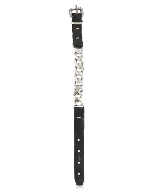 Emanuele Bicocchi | Metallic Leather & Spiked Silver Chain Bracelet | Lyst