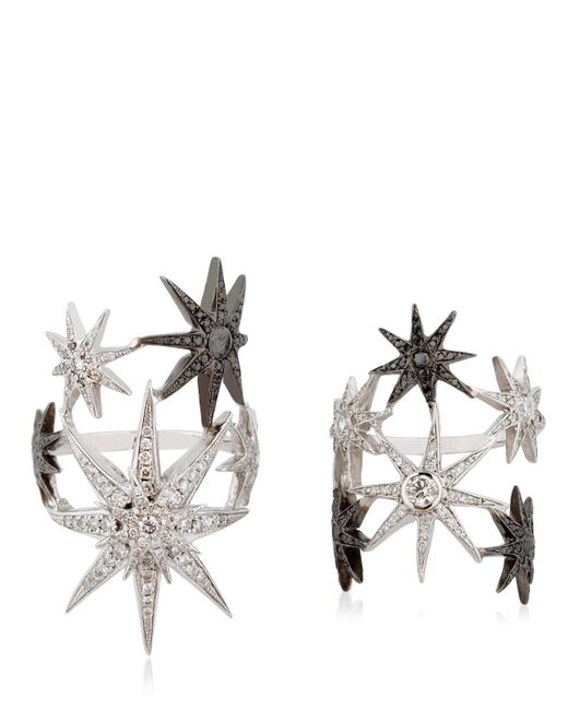 Colette | Black White Star Ring Set | Lyst