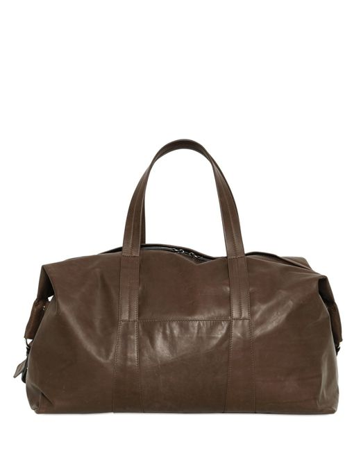 Maison Margiela | Brown Soft Leather Sailor Duffle Bag for Men | Lyst