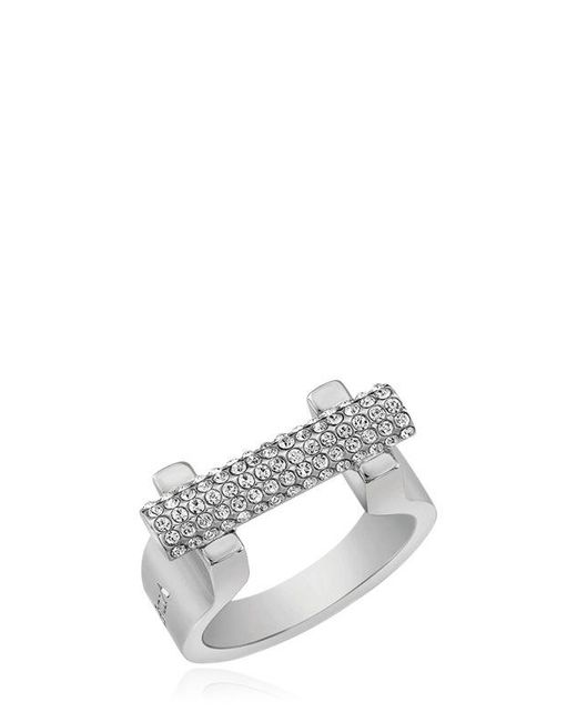 Vita Fede   Metallic Sphere Bar Swarovski Crystal Ring   Lyst