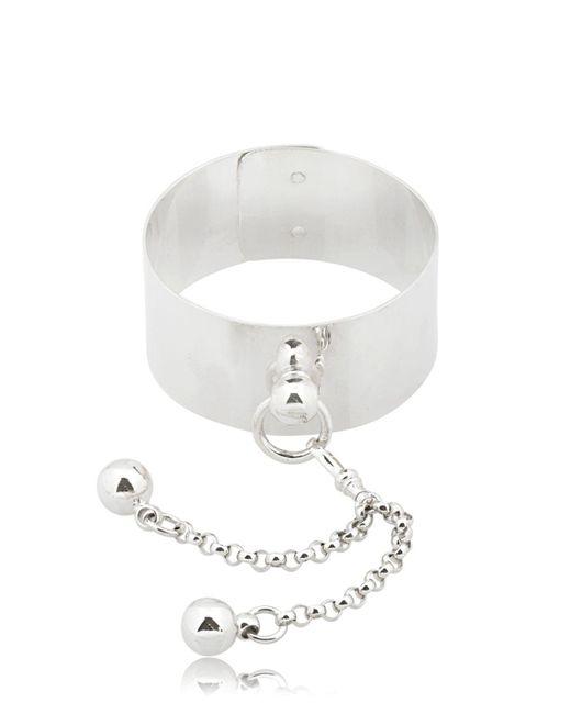 Betony Vernon   Metallic Sado Chic Wrist Cuff With Double Sphere   Lyst