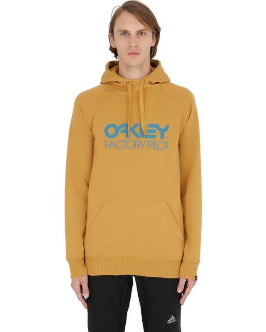Oakley   Yellow Dwr Cotton Blend Sweatshirt for Men   Lyst