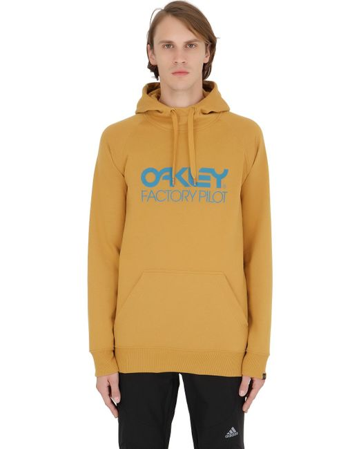 Oakley | Yellow Dwr Cotton Blend Sweatshirt for Men | Lyst