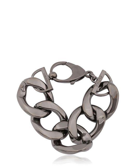 Pluma | Black Link Gunmetal Bracelet | Lyst