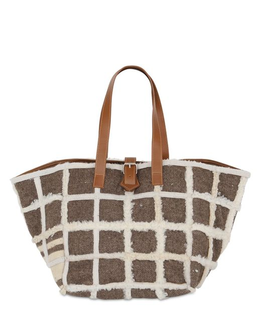Carmina Campus | Brown Karla Recycled Shearling Tote Bag | Lyst