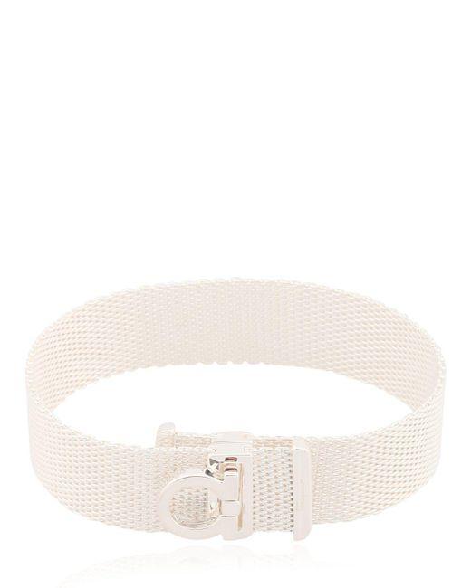 Ferragamo   Metallic Single Mesh Chain Bracelet   Lyst