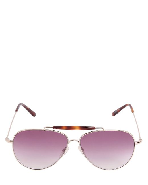 Valentino | Pink Aviator Sunglasses With Gradient Lens | Lyst