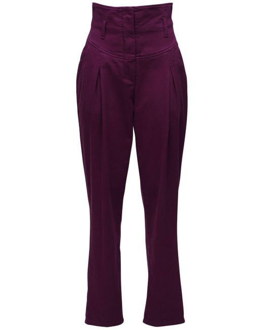 Джинсы Из Хлопкового Стрейч Деним Alberta Ferretti, цвет: Purple