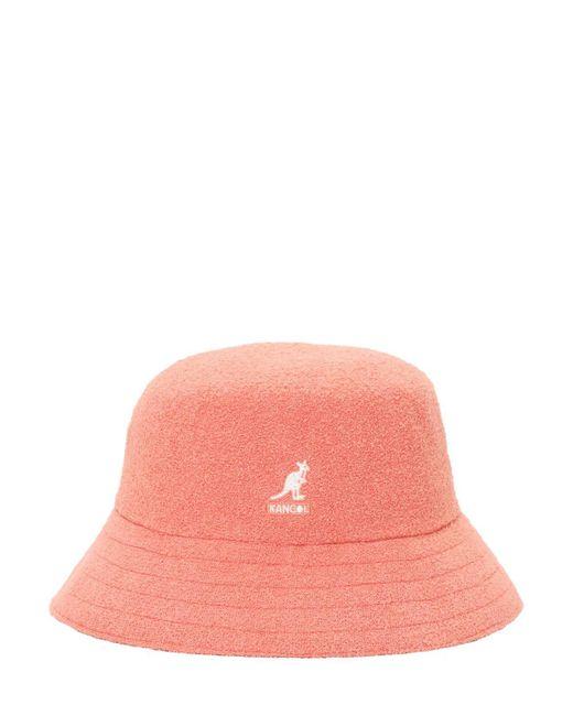 メンズ Kangol Bermuda バケットハット Pink