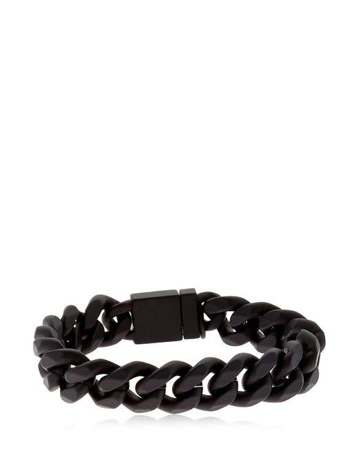 Northskull | Black Rubberized Chain Bracelet | Lyst