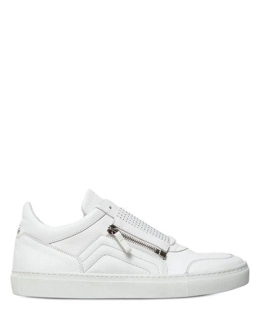 D-s!de | White Micro Studded Leather Slip-on Sneakers for Men | Lyst