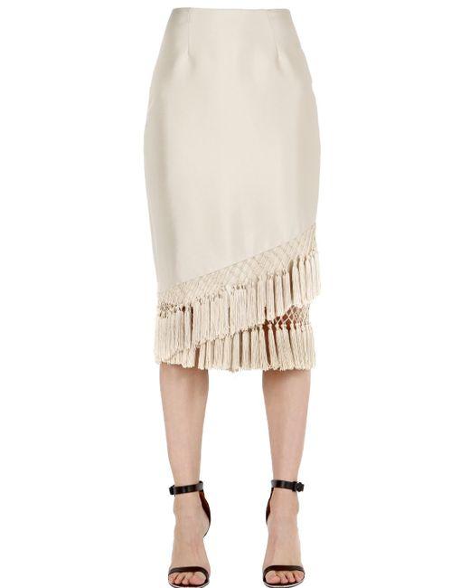 Cameo   White Break Free Tassel Skirt   Lyst