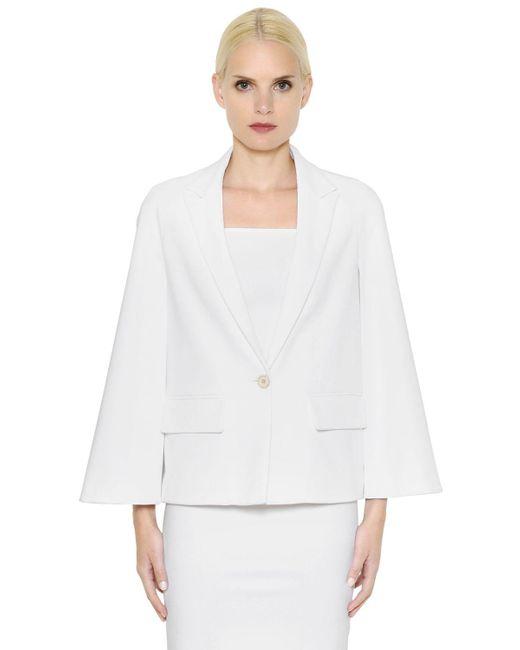 Givenchy | White Stretch Viscose Cady Cape Jacket | Lyst