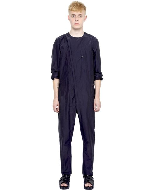 Alexandre Plokhov | Blue Cotton & Silk Jumpsuit for Men | Lyst