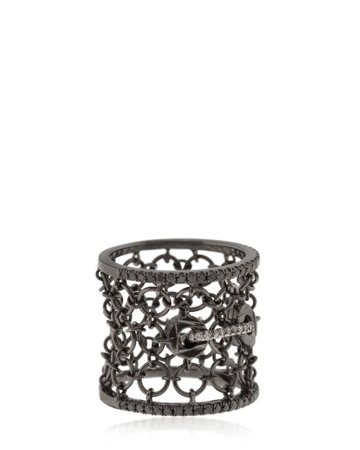 Colette   Black Entwined Mesh Corset Ring For Lvr   Lyst