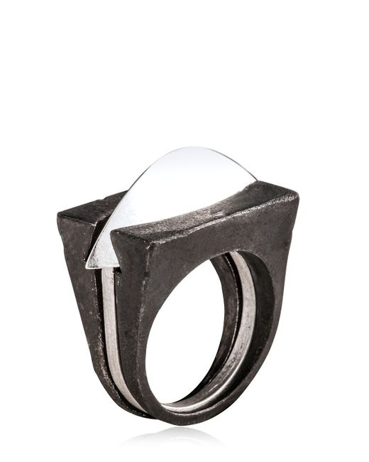 Henson | Metallic Blade Ring Set for Men | Lyst