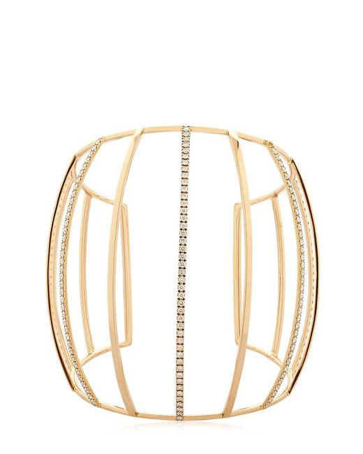 Dauphin | Metallic 3 Strands Diamond Cuff Bracelet | Lyst
