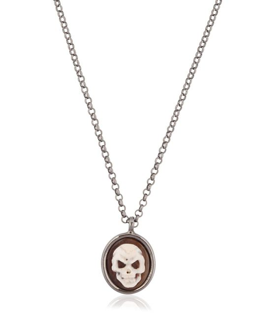 Amedeo | Black Skull Cameo Necklace for Men | Lyst