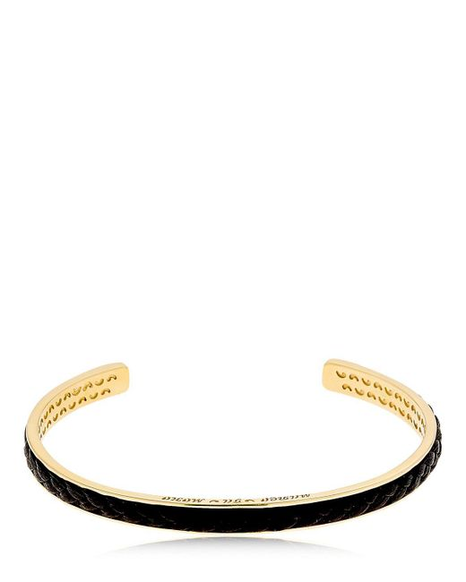 MARCO DAL MASO | Metallic Braided Leather & Silver Bracelet | Lyst