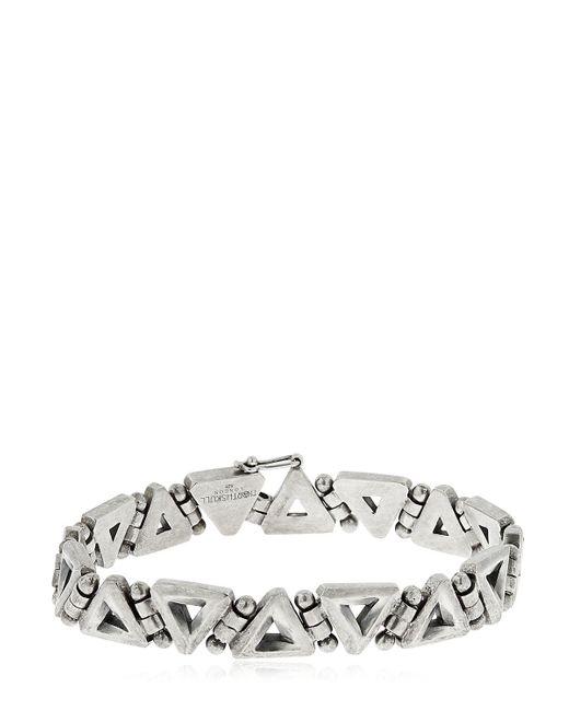 Northskull - Metallic Trigonum Chain Sterling Silver Bracelet - Lyst