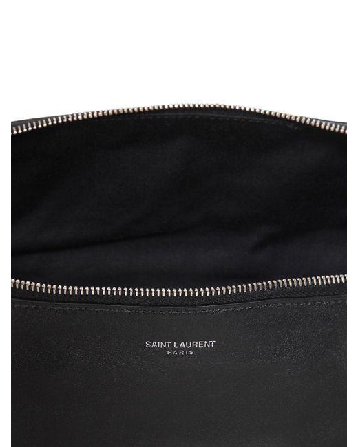 Кожаная Сумка На Пояс Saint Laurent для него, цвет: Black