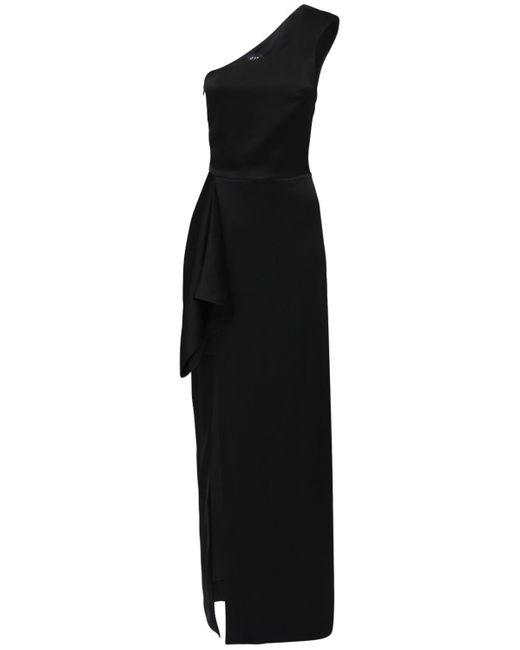 Atlein サテンドレス Black