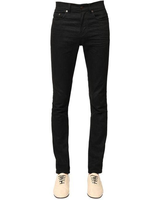 Джинсы Из Денима Стрейч Saint Laurent для него, цвет: Black