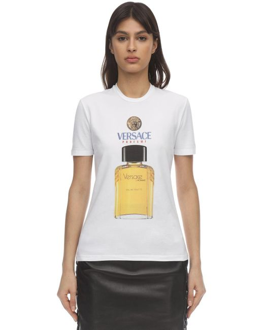 Versace コットンジャージーtシャツ White