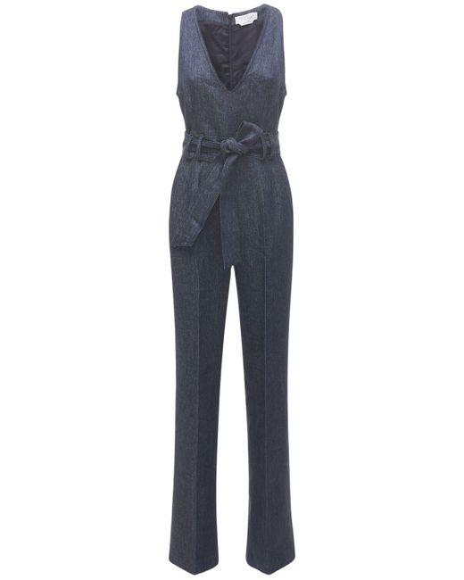 Gabriela Hearst Lenox リネンデニムジャンプスーツ Blue