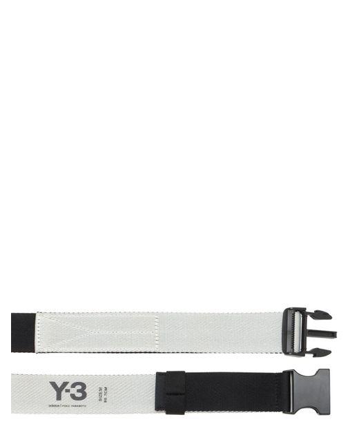 メンズ Y-3 Ch2 リバーシブルファブリックベルト Black