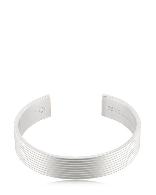 Le Gramme | Metallic Le 41 Matte Guilloche Lines Bracelet for Men | Lyst