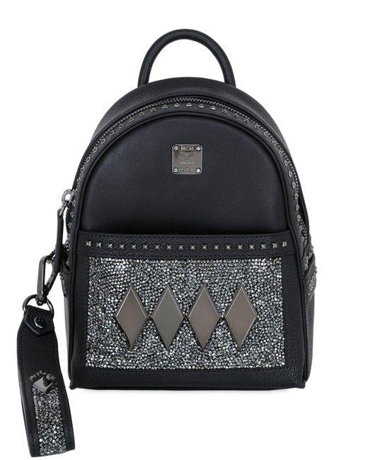 MCM | Black Stark Kristall Backpack | Lyst