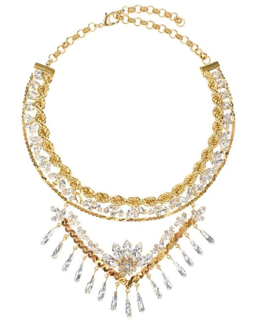 Shourouk | Metallic Calypso Necklace | Lyst