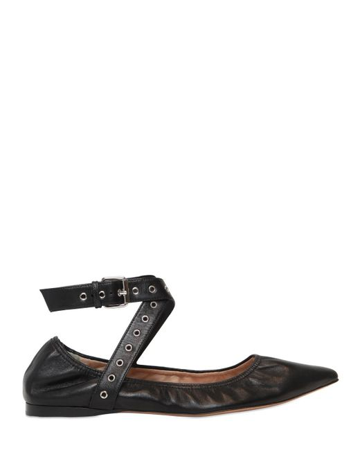 Valentino | Multicolor 'love Latch' Pointy Toe Flat | Lyst