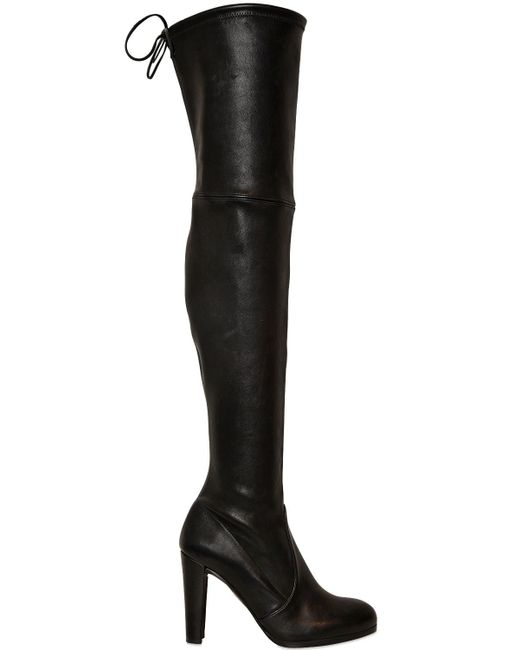 Stuart Weitzman | Black Highland Stretch-napa Over-the-knee Boot | Lyst