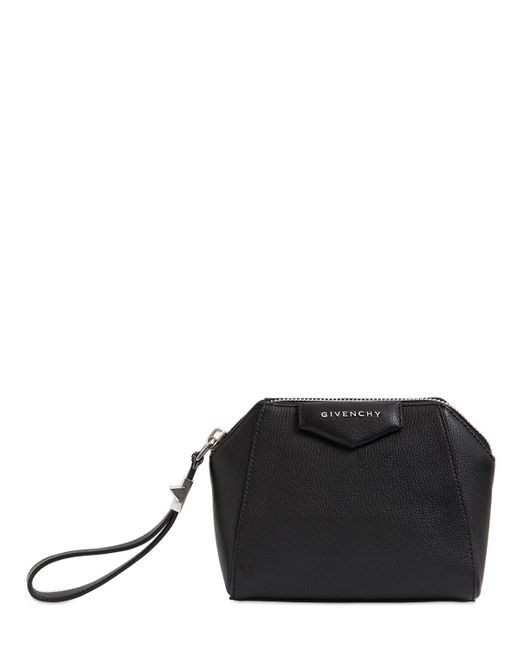 Givenchy | Black 'antigona' Leather Zip Pouch | Lyst