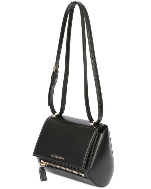 Givenchy | Black Mini Pandora Box Textured Leather Bag | Lyst