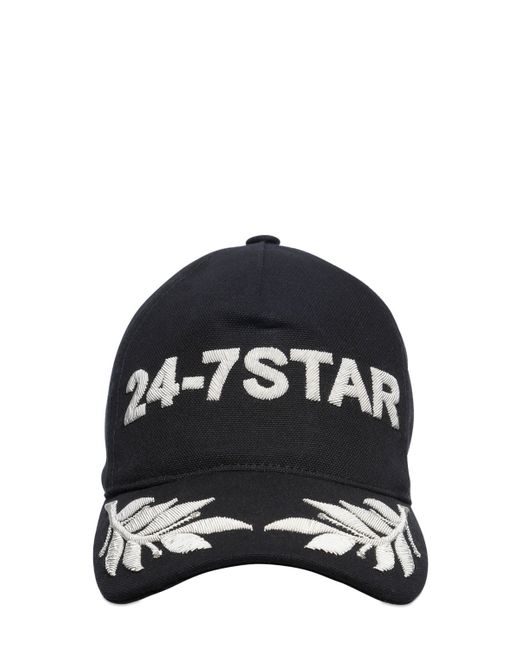 DSquared²   White Icon Embroidered Canvas Baseball Hat for Men   Lyst