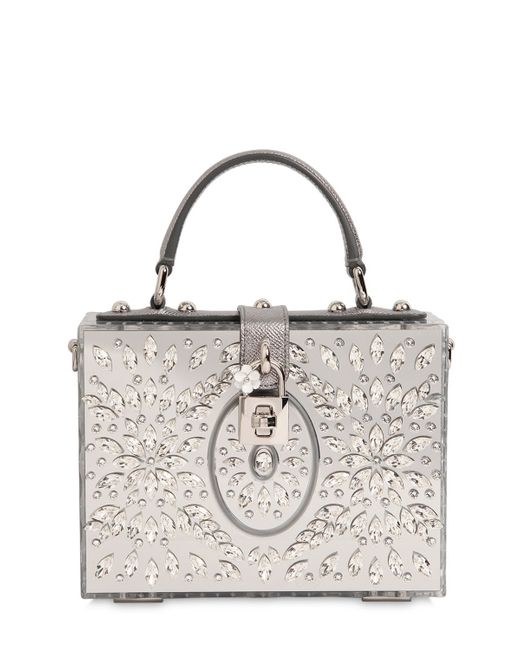 Dolce & gabbana Embellished Perspex Dolce Bag in Metallic | Lyst