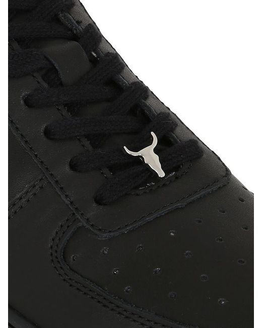 Windsor Smith 50mm Racer Leather Sneakers In Black Lyst
