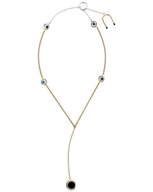 Uribe   Black Charles Y Necklace   Lyst