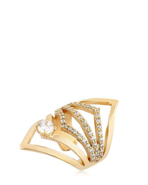 Maria Francesca Pepe | Metallic Capsule 23k Ring | Lyst
