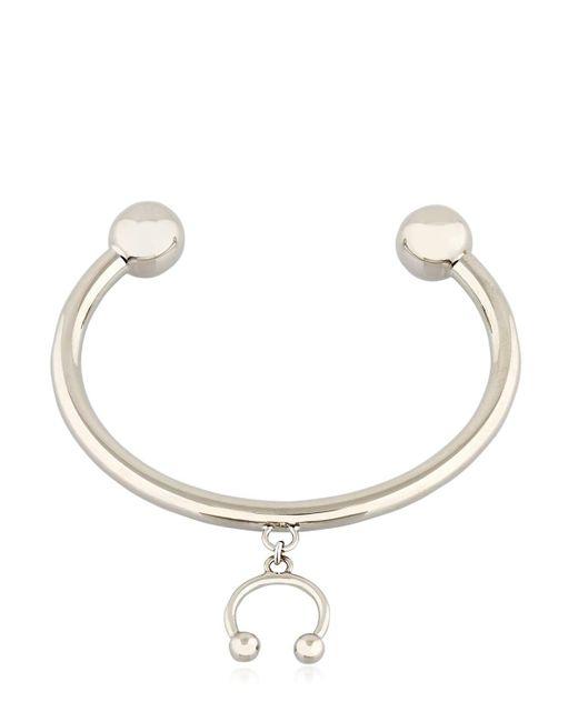 Maria Francesca Pepe | Metallic Pierced Bracelet With Charm | Lyst