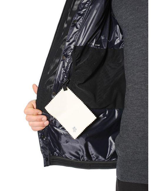 moncler grenoble camouflage zip up jacket in blue for men save 42 lyst. Black Bedroom Furniture Sets. Home Design Ideas